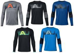 UNDER ARMOUR UA BOYS 8-20 S M L XL TECH LONG SLEEVE TEE BLAC