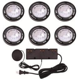 6 Pack 120 Volts Under Cabinet Display Xenon Black Lighting