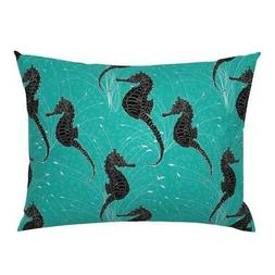 Under The Sea Mid Century Hollyce Jeffriess Hamptons Pillow