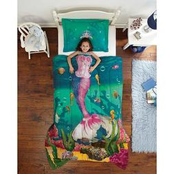 2 Piece Underwater Sea Princess Patterned Comforter Set Twin