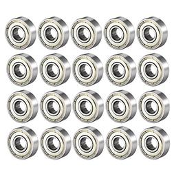 uxcell 608Z Deep Groove Ball Bearing Double Shield 608ZZ 608
