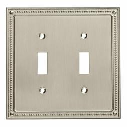 Franklin Brass W35061-SN-C Classic Beaded Double Switch Wall