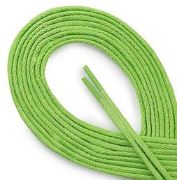 WAXED VERY THIN DRESS ROUND Electric Lime 32 inch Shoelaces