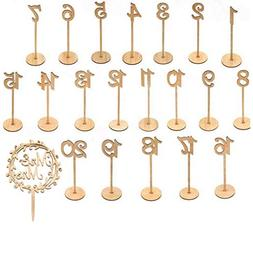 TRH Milwaukee Products, LLC Wooden Wedding Table Numbers wit